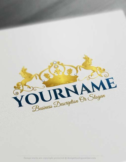 Free Logo Maker - Create your own Crown Unicorn Logo design