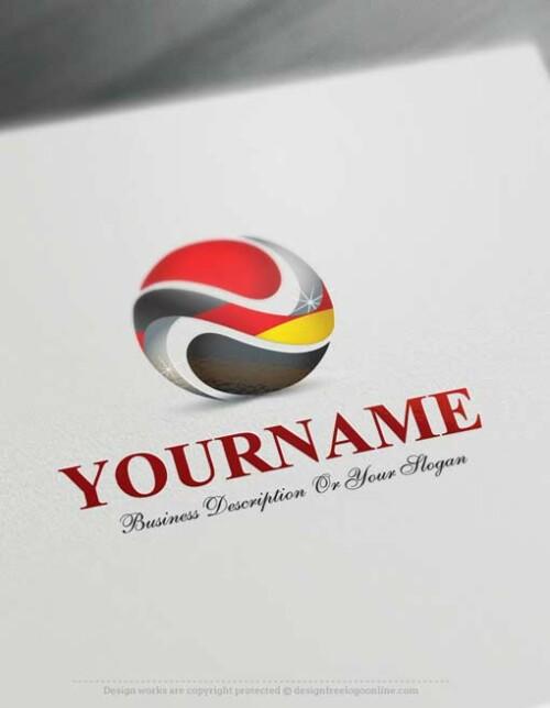 Create a logo Free - Free Logo Maker - German Flag Logo