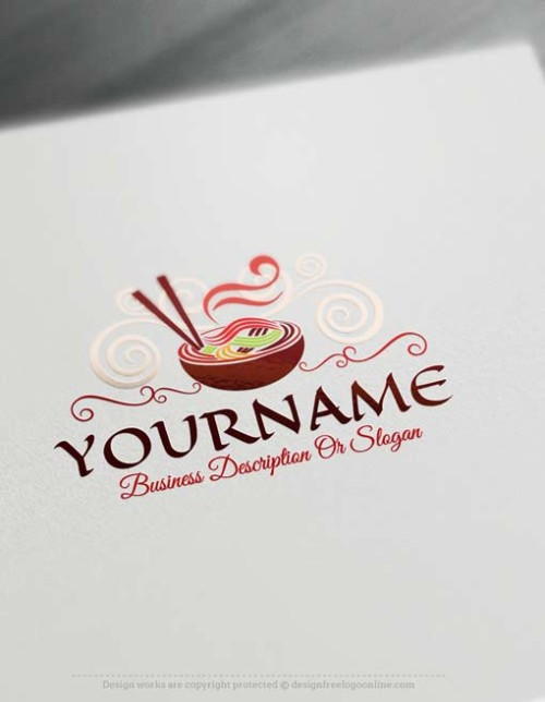 Customize This Noodles Logo design with our Free Logo Maker