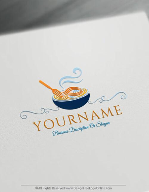 Blue Pasta logos branding
