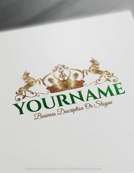 Free-logomaker-crown-unicorn-Logo
