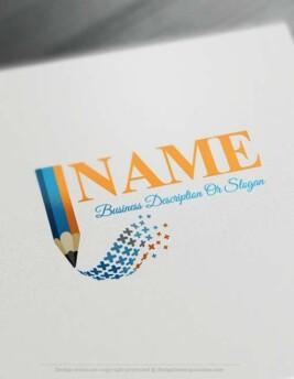 Free Logo Maker - Customize Digital Pencil Logo template