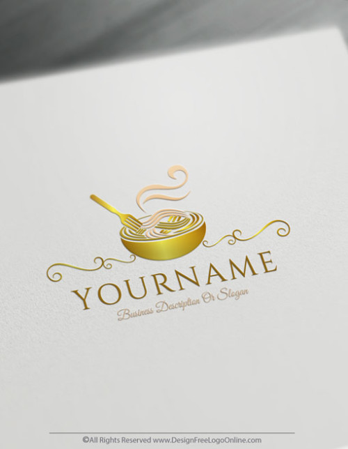 customize your new Noodles Pasta logo branding