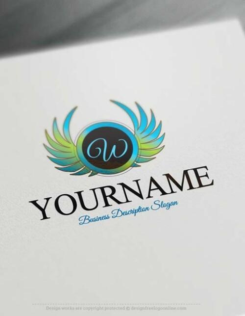 Create a logo Free - Free Logo Maker - Wings logo design