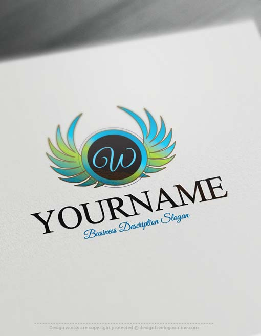 Make Own Wings Logo Design With Our Free Logo Design Maker