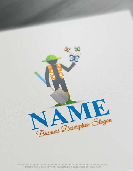 Free logo maker online gardening logo design maker for Garden maker online