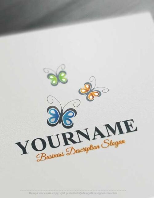 000640-Free-logo-maker-Butterflies-Logo-design
