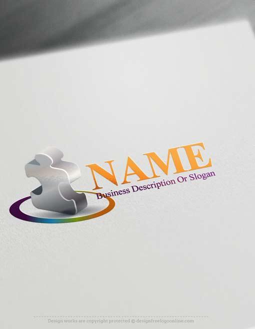 Free logomaker online 3d puzzle logo template Online 3d design maker
