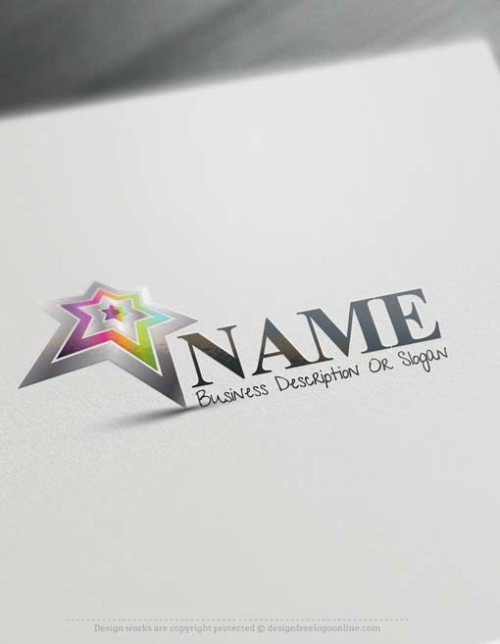 Customize This Star Logo template with our free logo maker tool. Change your company name, slogan, colors & fonts.