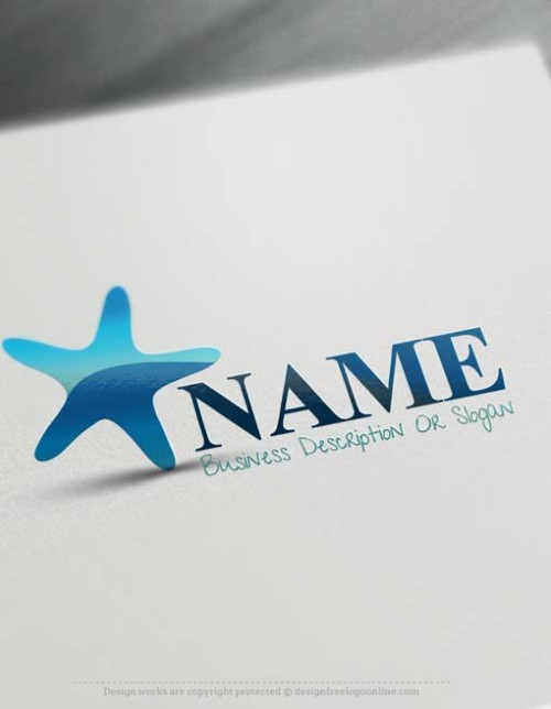 Create Sea Starfish logo design with the best online logo Creator
