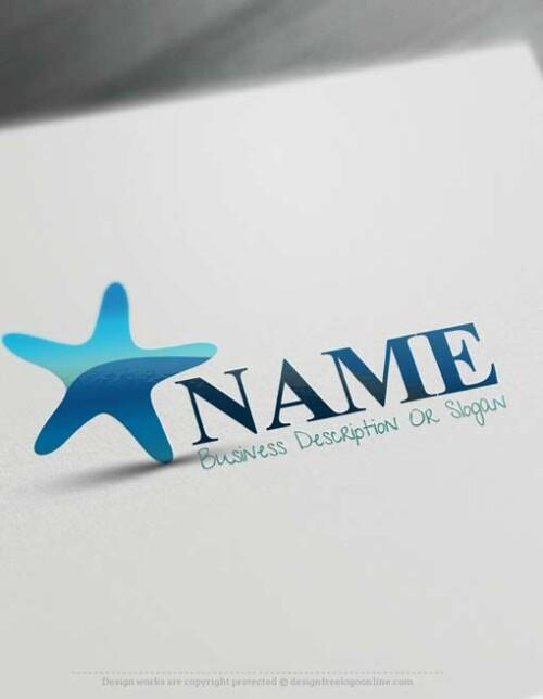 Create Sea Starfish logo design with the best online logo Creator