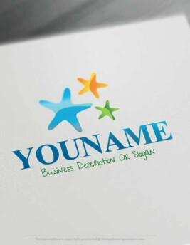 free sea Stars Logo online logomaker