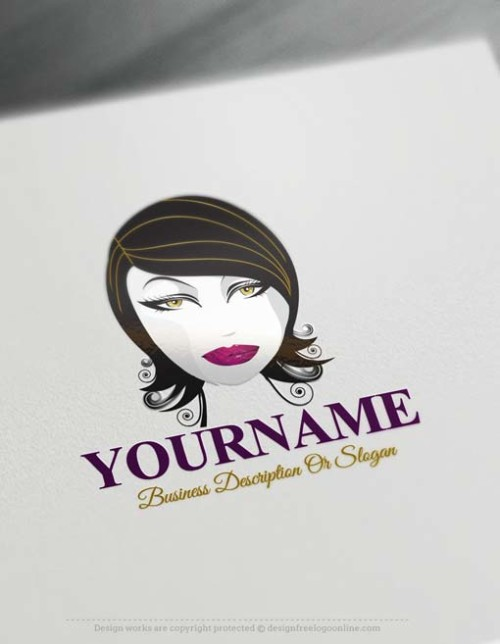 Free Logo Maker - Black Hair Face Logo design