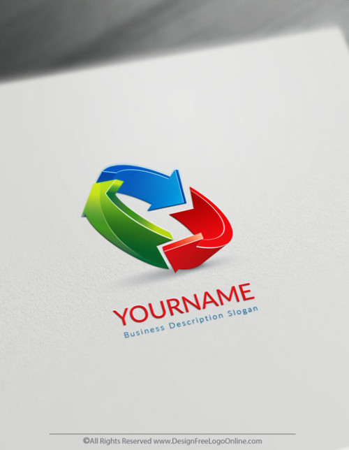 colorful 3D Arrows logo