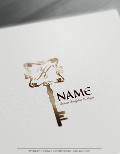 Create Vintage Key Logo Design Online Using The Logo Maker