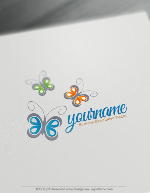 Create Your Own Online Butterfly Logo Design Ideas using the online logo maker app