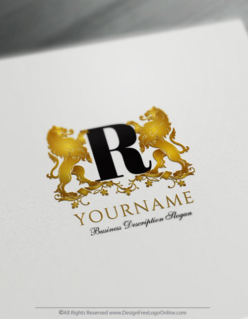 Free Logo Maker - Luxurious Lions Logo Design
