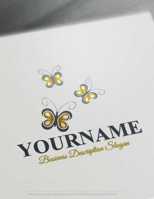 Free-logo-maker-Butterflies-Logo-design