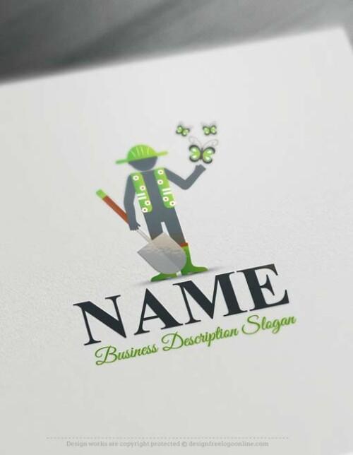 Free-logo-maker-Gardener-Logo