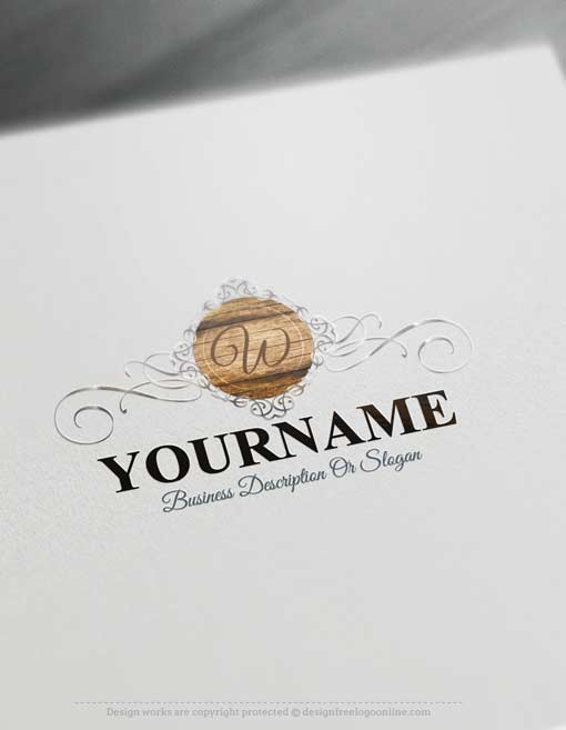 Free-logo-maker-wood-Logo-design