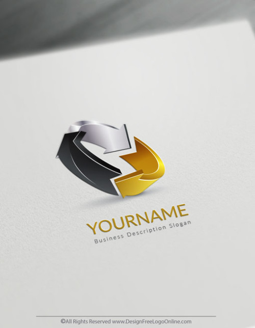 tweak your gold 3D Arrows logo branding.