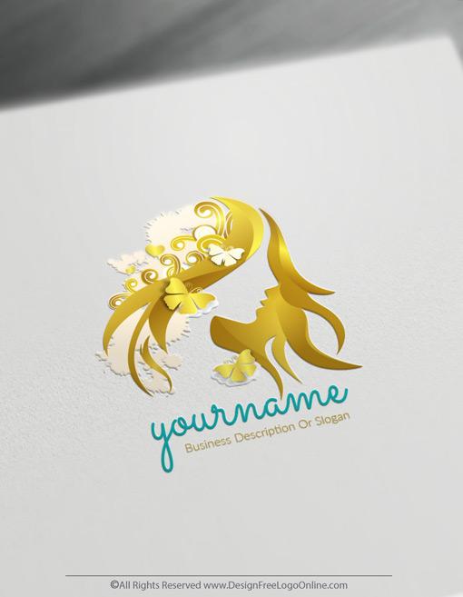 Gold Woman Face LogoMaker