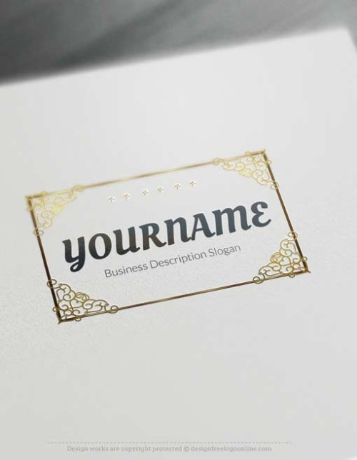 -Golden-Decorated-Frame-Logo-template-Golden-Decorated-Frame-Logo-template