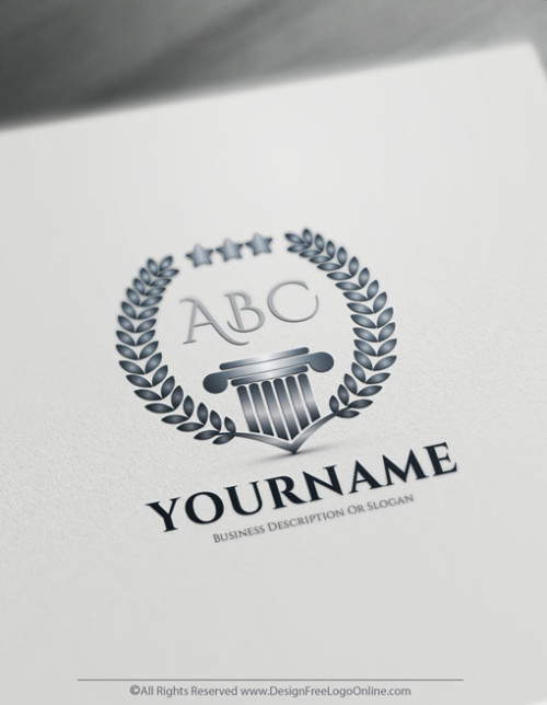 Luxurious Greek Law Firm Logo Maker - Alphabet Logo Template