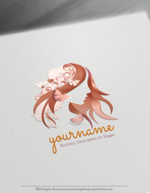 Rose Gold Free Beauty Logo Maker