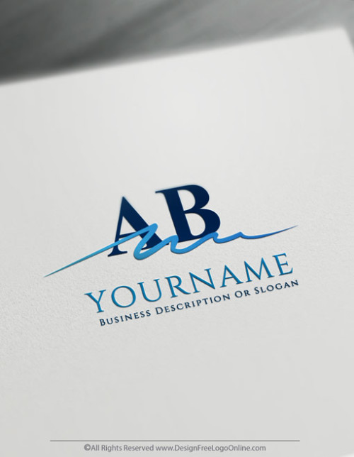Free Signature Logo Maker - Simple Alphabet Logo design