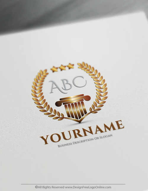 Luxurious Logo Maker - Greek style Alphabet Logo template