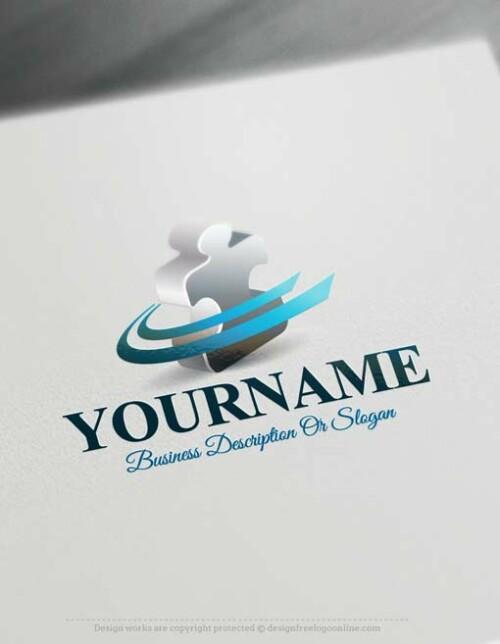 free-Puzzle-logo-design