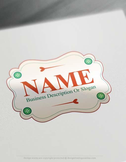 Create a logo Free - Free Logo Maker - Sewing Logo