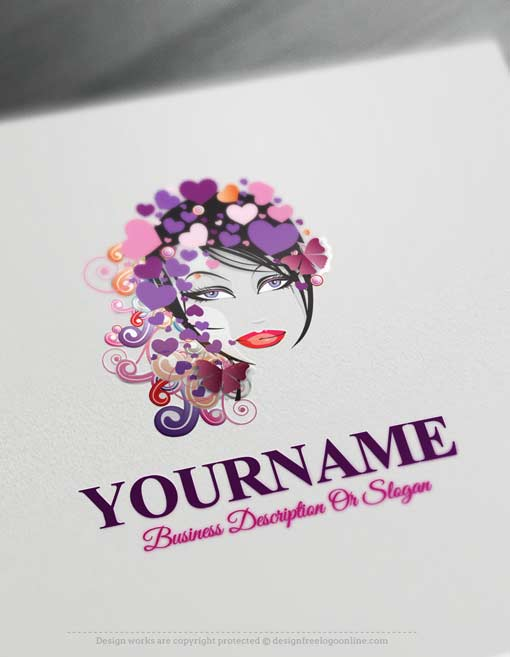 Online Makeup Artist Logo Design