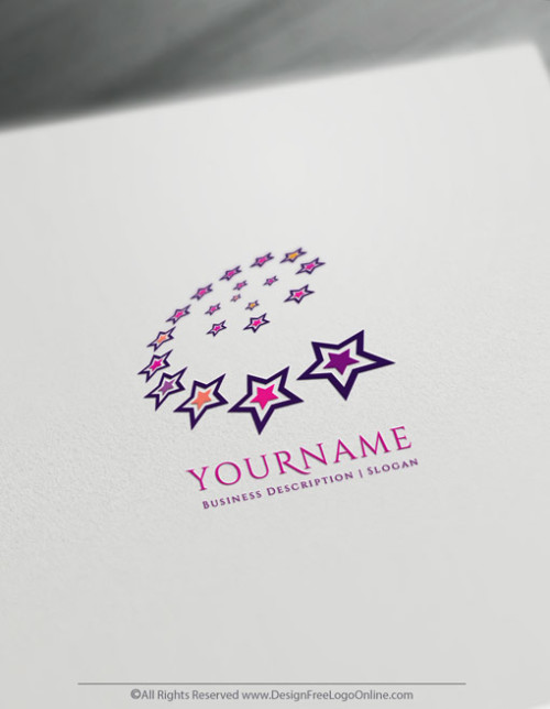 Create logo of stars For Free with the online Logo Maker