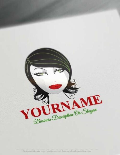 free-woman-face-Logo-online-logo-maker