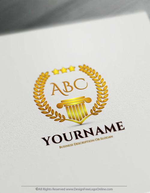 Luxurious Logo Maker - Gold Greek style Alphabet Logo template