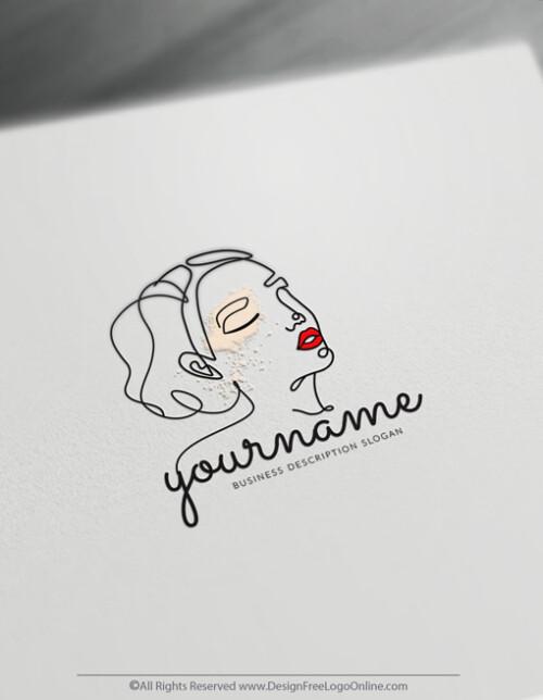 Minimalist Lines Face Logo.