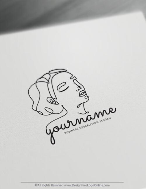 Minimalist Lines incredible Woman Logo
