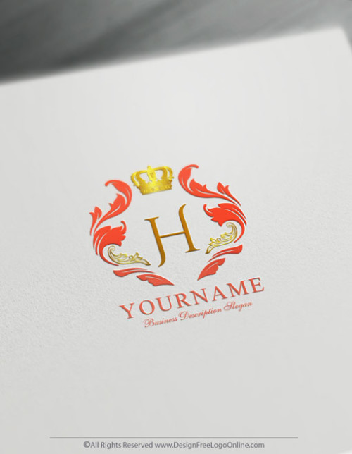 Create Royal Logo For Free with the Vintage Crown Logo Template