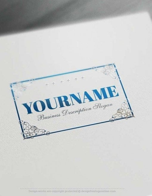 silver-Decorated-Frame-Logo-template