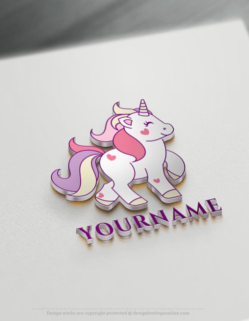 create your own Unicorn logo design by using the online logo maker