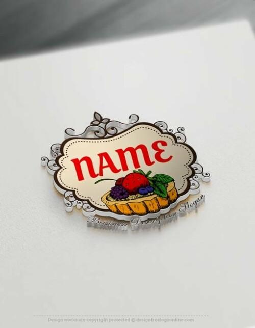 Make Fruit Tart Logo Template Online with our Free Logo Maker.
