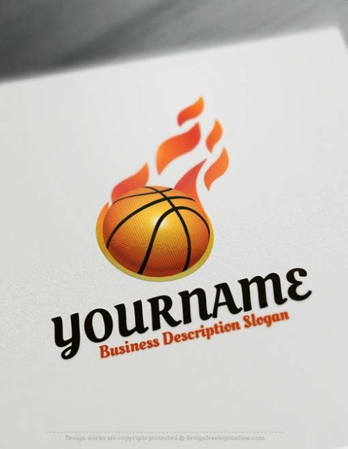 Ready made Basketball Logo design decorated with a basketball logo image. Customize This basketball logo template with our free logo maker.