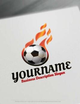 Free Logo Maker - soccer football logo design template