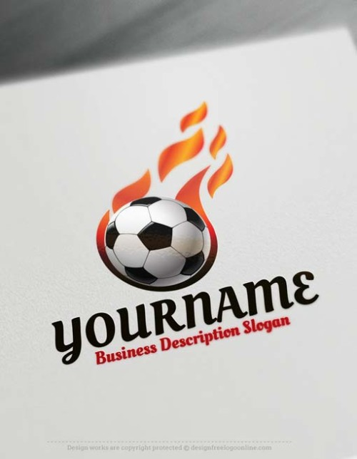 Free Logo Maker - soccer football logo design template