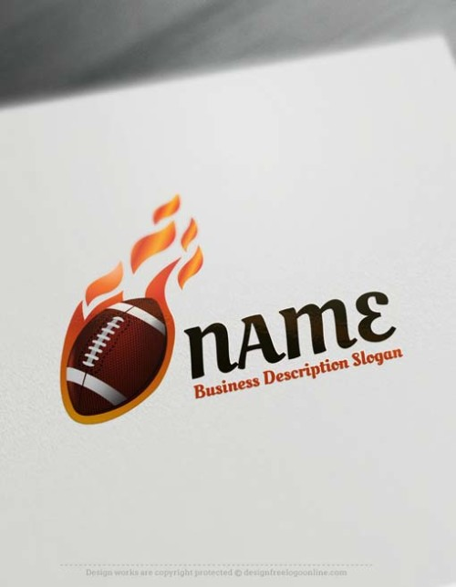 Free Logo Maker - American football Logo design