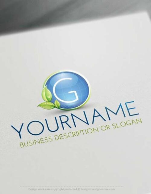 000672-Free-green-globe-Logo-design