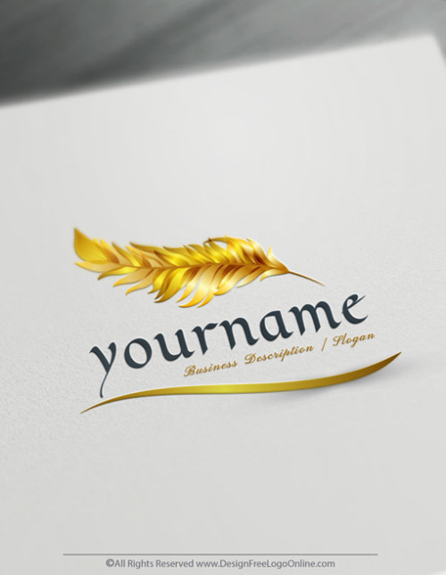 Create a feather pen Logo design Free with our online Quill Logo Maker.