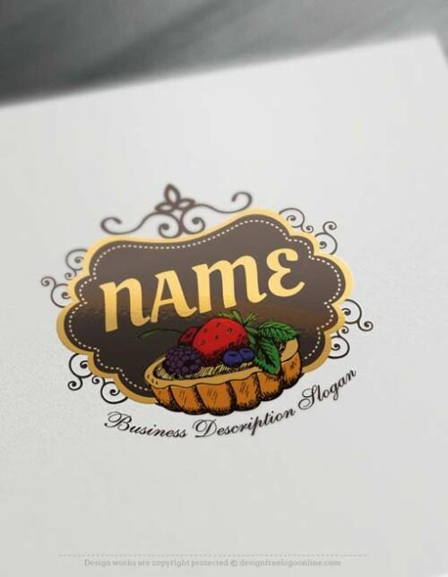 Free-Fruit-tart-Logo-design-cake-logos